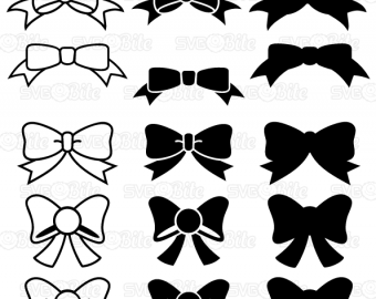 Download Bows Set Frames SVG DXF PNG eps cutting files for Cricut ...